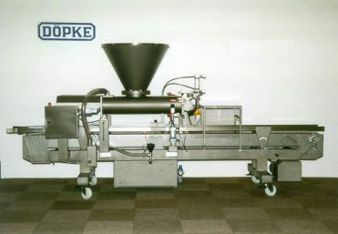 Automatic dough-container filling machine